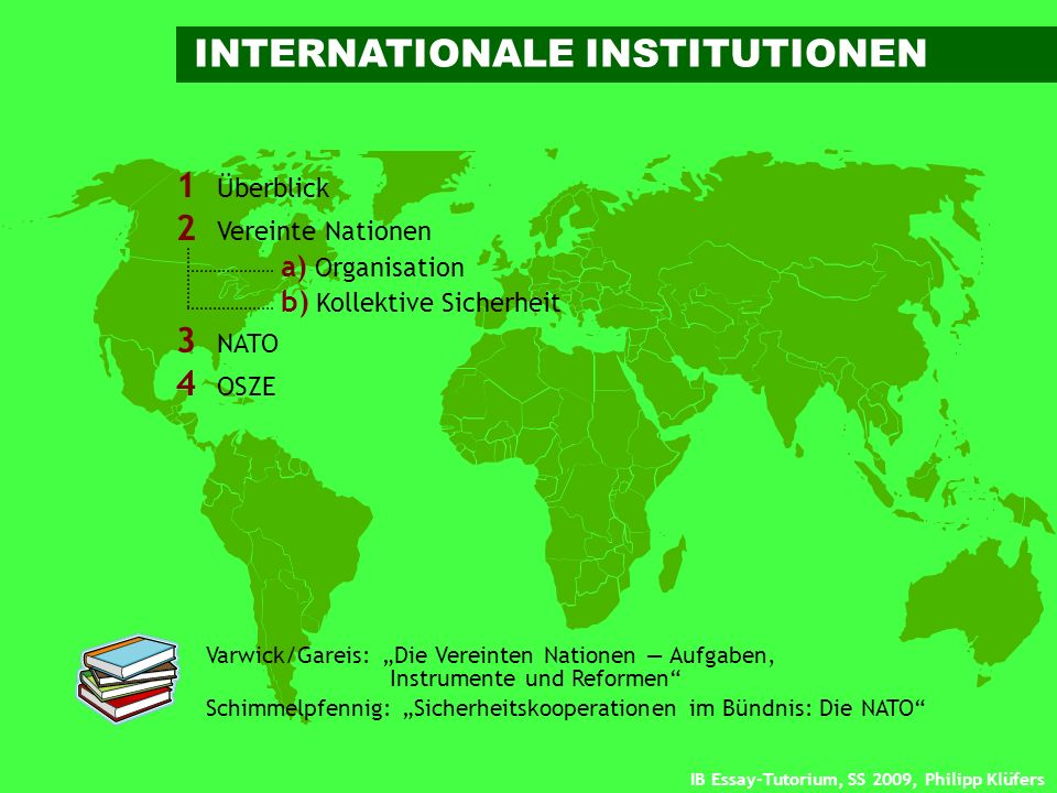 INTERNATIONALE INSTITUTIONEN