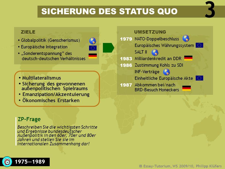 3 SICHERUNG DES STATUS QUO ZP-Frage 1975―1989  Multilateralismus