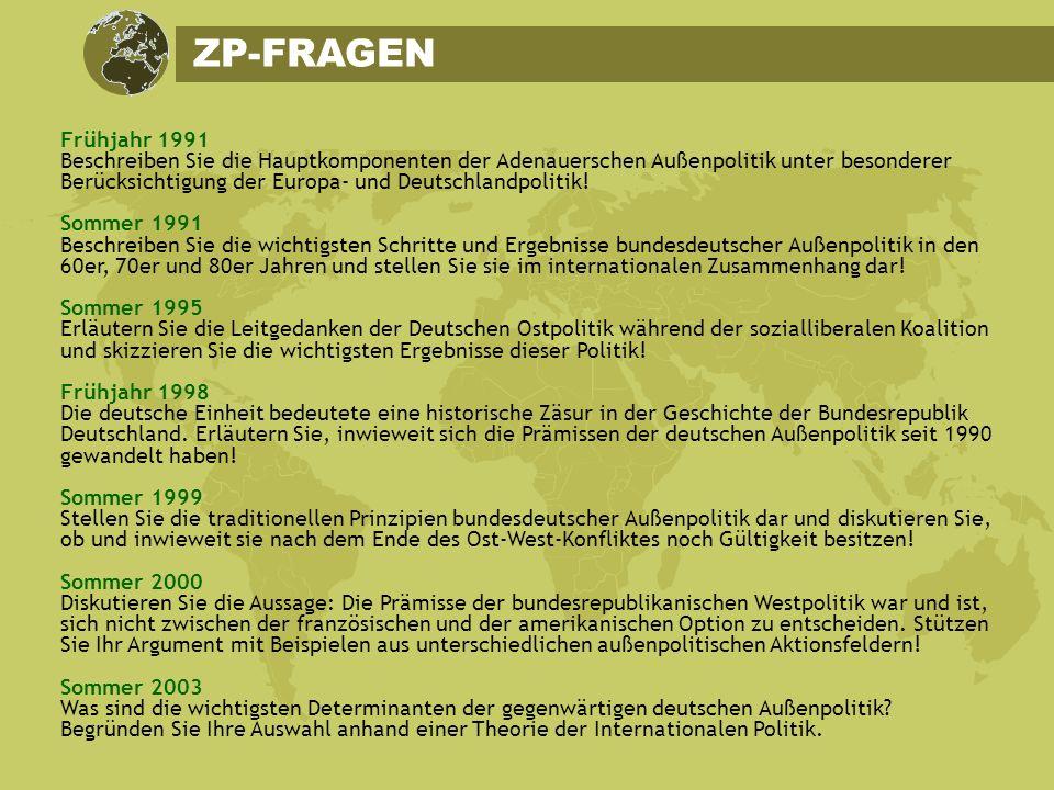 ZP-FRAGEN Frühjahr 1991.