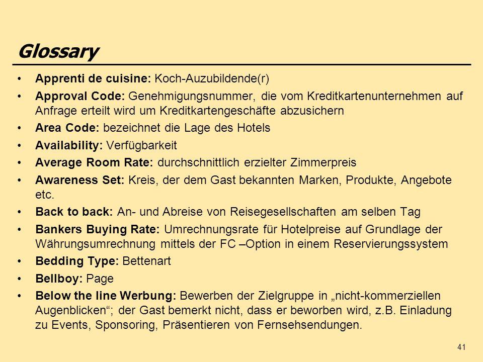 Glossary Apprenti de cuisine: Koch-Auzubildende(r)