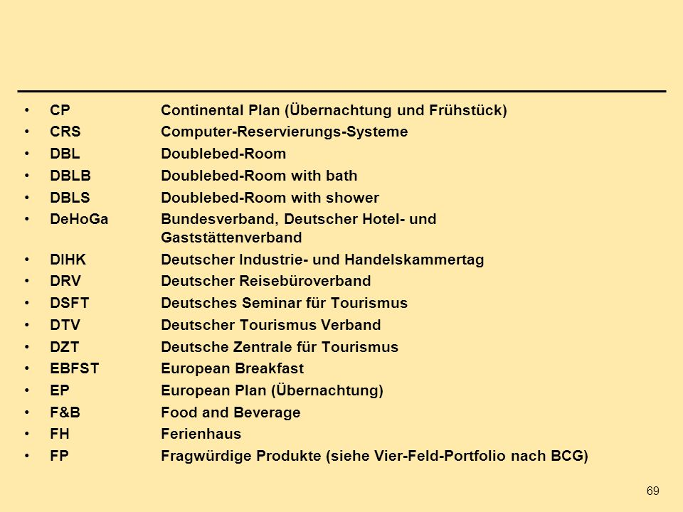 CP Continental Plan (Übernachtung und Frühstück)