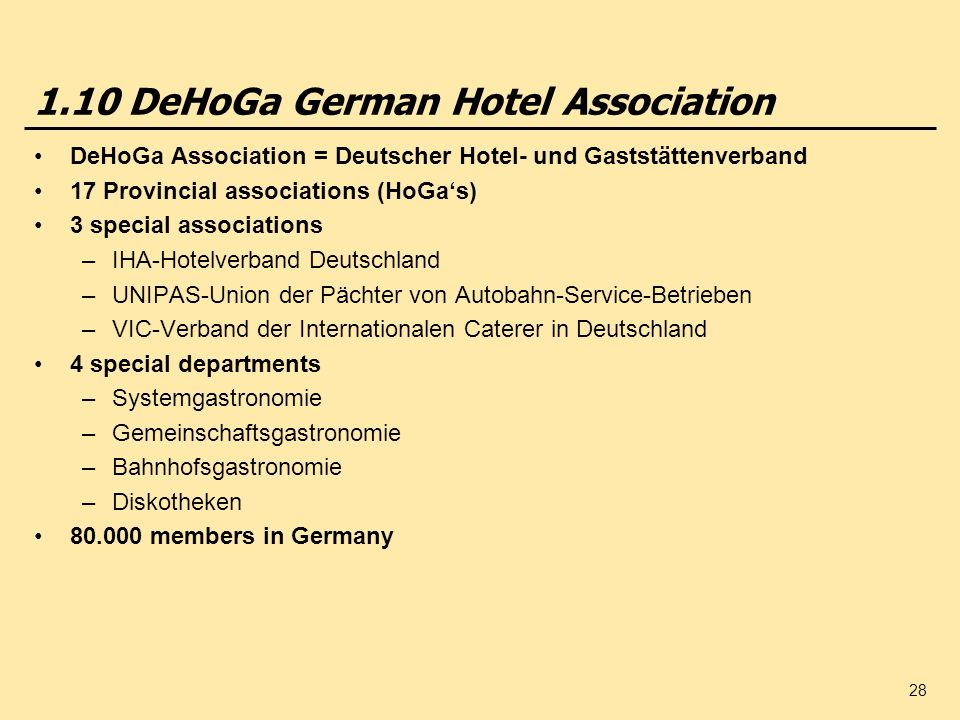 1.10 DeHoGa German Hotel Association