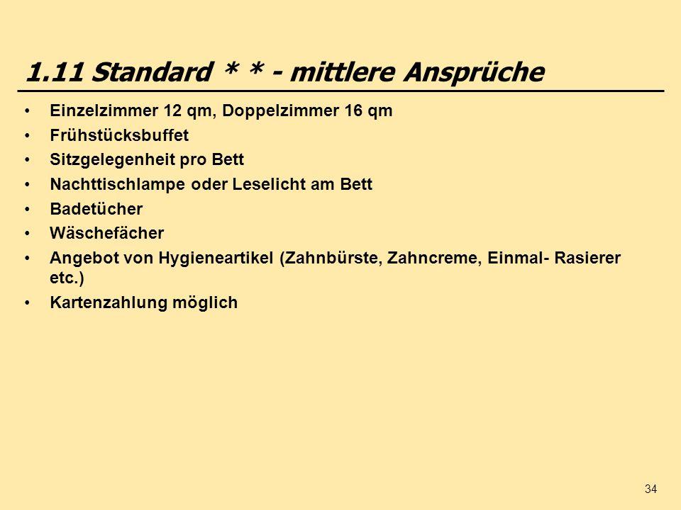 1.11 Standard * * - mittlere Ansprüche