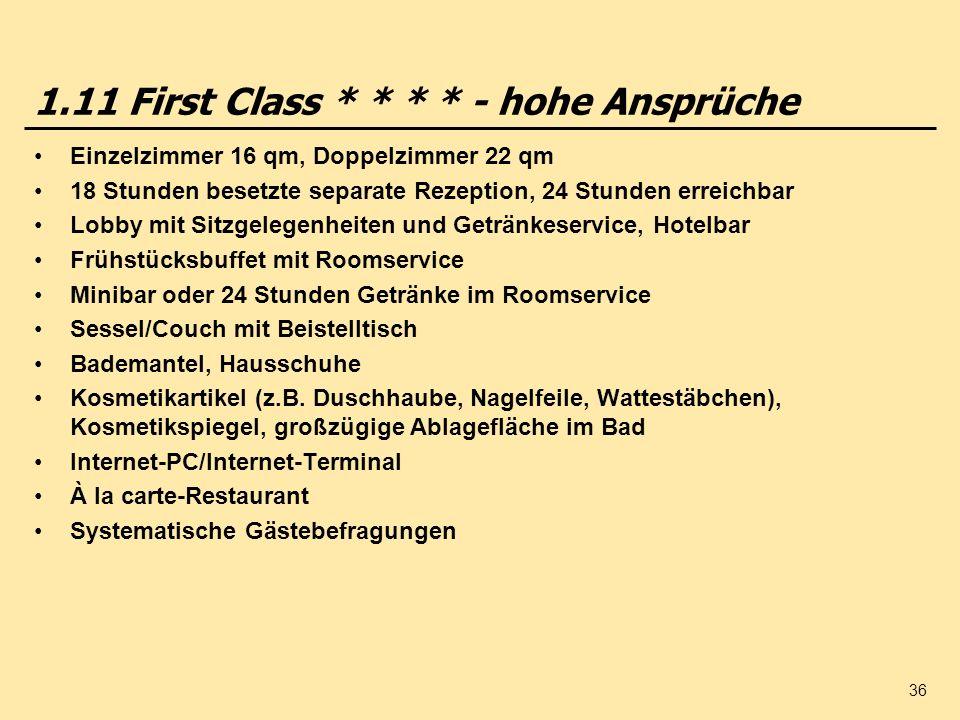 1.11 First Class * * * * - hohe Ansprüche