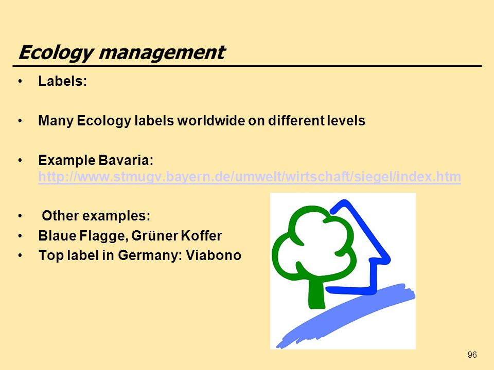 Ecology management Labels:
