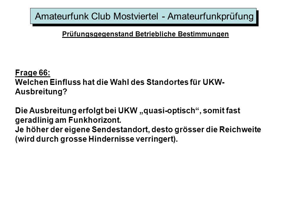 Amateurfunk Club Mostviertel - Amateurfunkprüfung