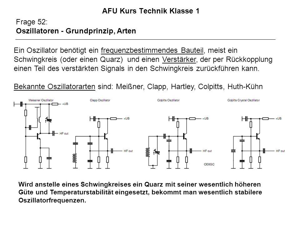 AFU Kurs Technik Klasse 1