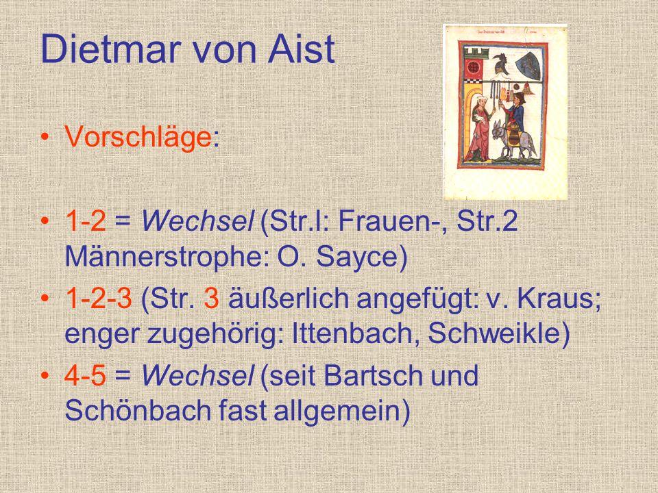 Dietmar von Aist Vorschläge: