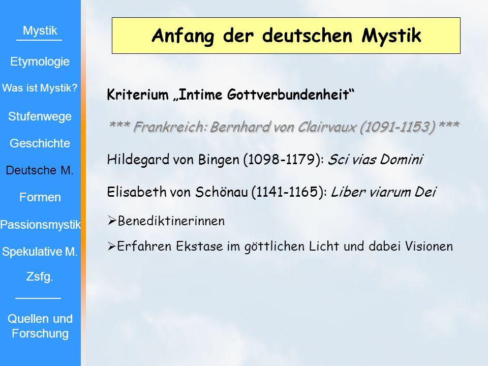 Anfang der deutschen Mystik