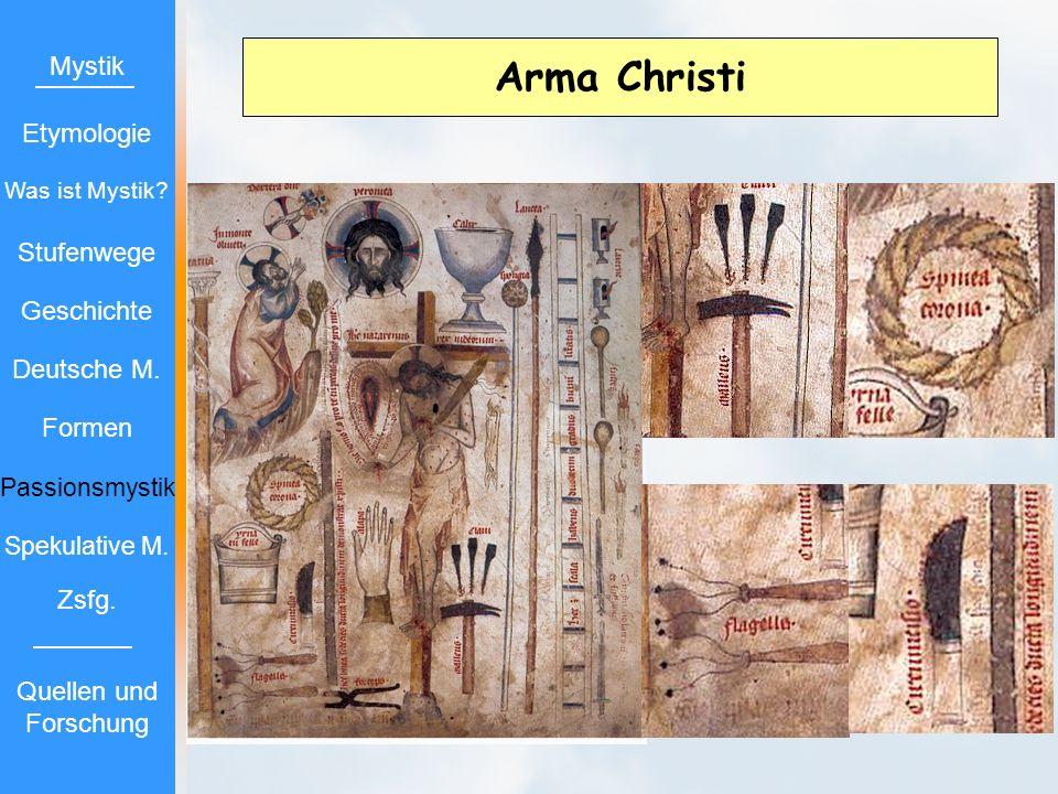 Arma Christi Mystik Etymologie Stufenwege Geschichte Deutsche M.