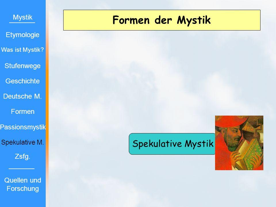 Formen der Mystik Spekulative Mystik Mystik Etymologie Stufenwege