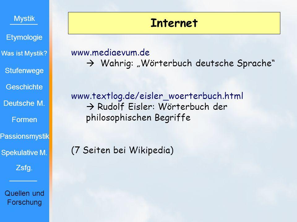"""Internet www.mediaevum.de  Wahrig: """"Wörterbuch deutsche Sprache"""