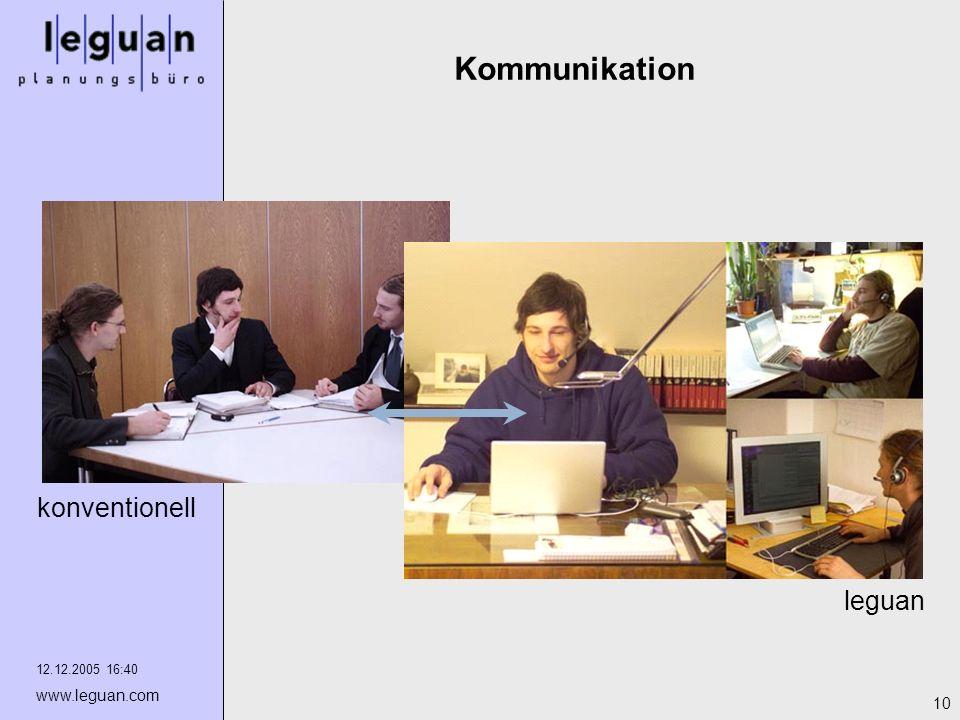 Kommunikation konventionell leguan 12.12.2005 16:40 www.leguan.com
