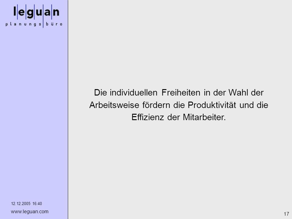 Die individuellen Freiheiten in der Wahl der Arbeitsweise fördern die Produktivität und die Effizienz der Mitarbeiter.
