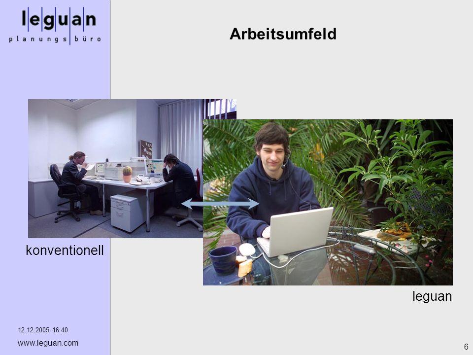 Arbeitsumfeld konventionell leguan 12.12.2005 16:40 www.leguan.com