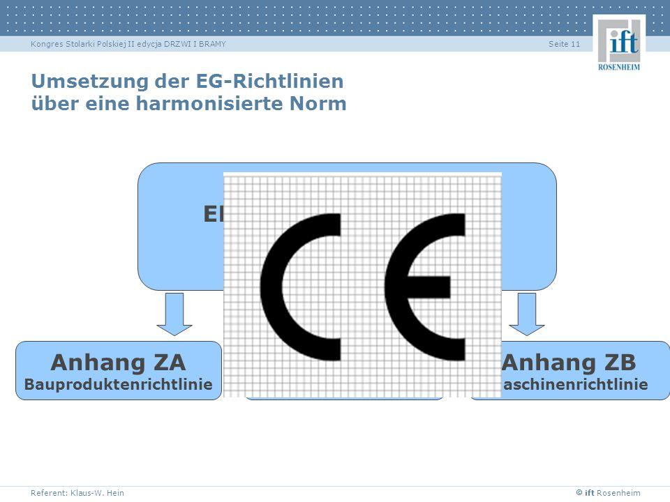 Umsetzung der EG-Richtlinien über eine harmonisierte Norm