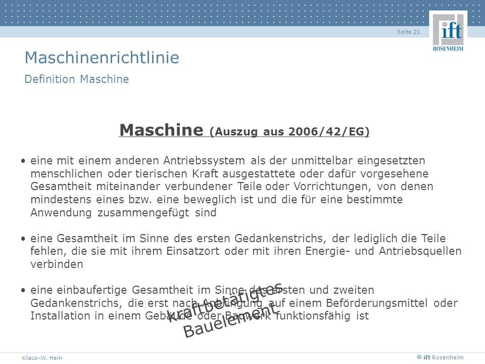 Maschine (Auszug aus 2006/42/EG)