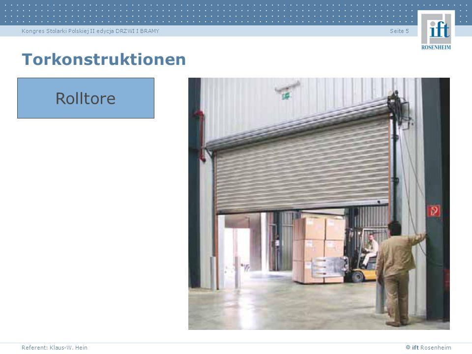 Torkonstruktionen Rolltore Typische Industrietore.