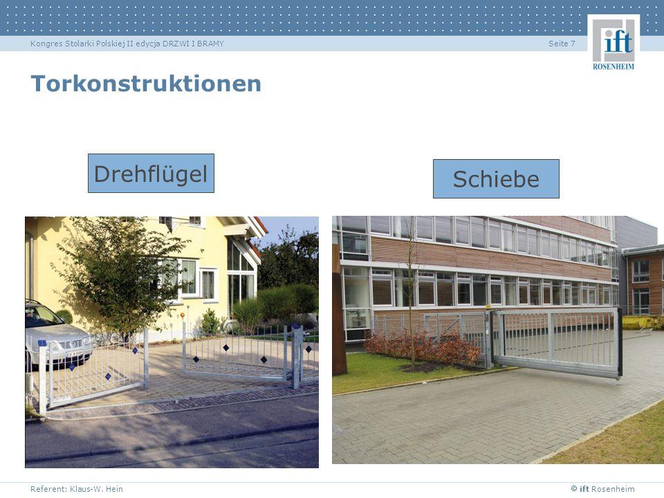 Torkonstruktionen Drehflügel Schiebe