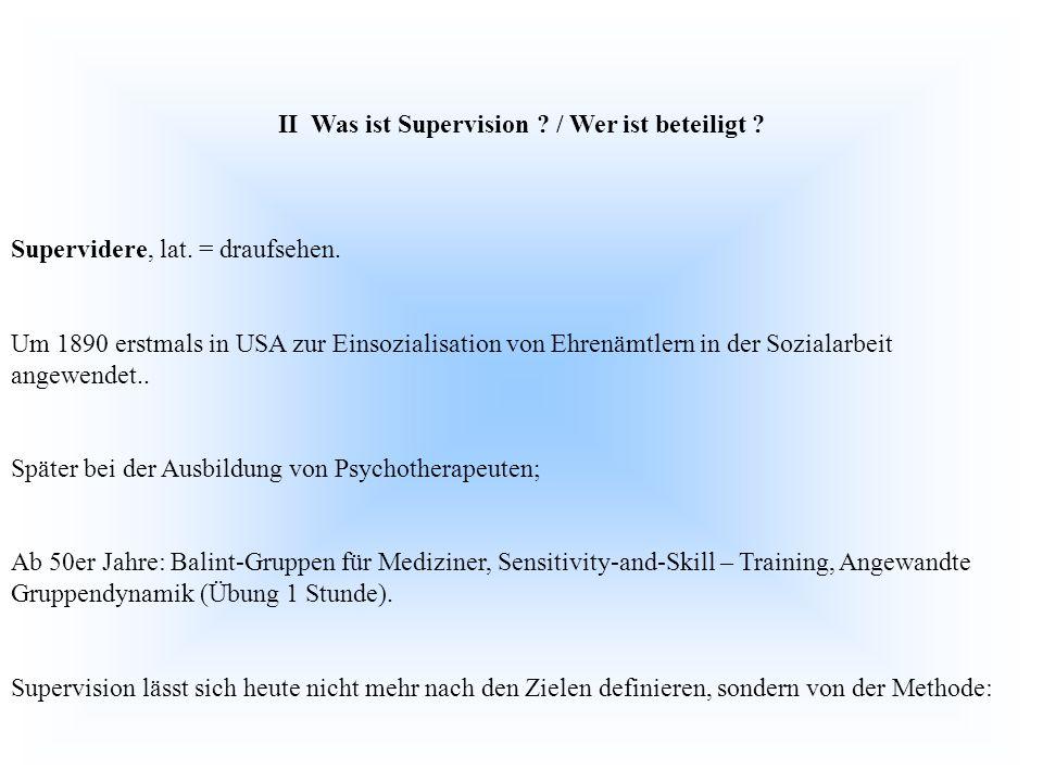 II Was ist Supervision / Wer ist beteiligt