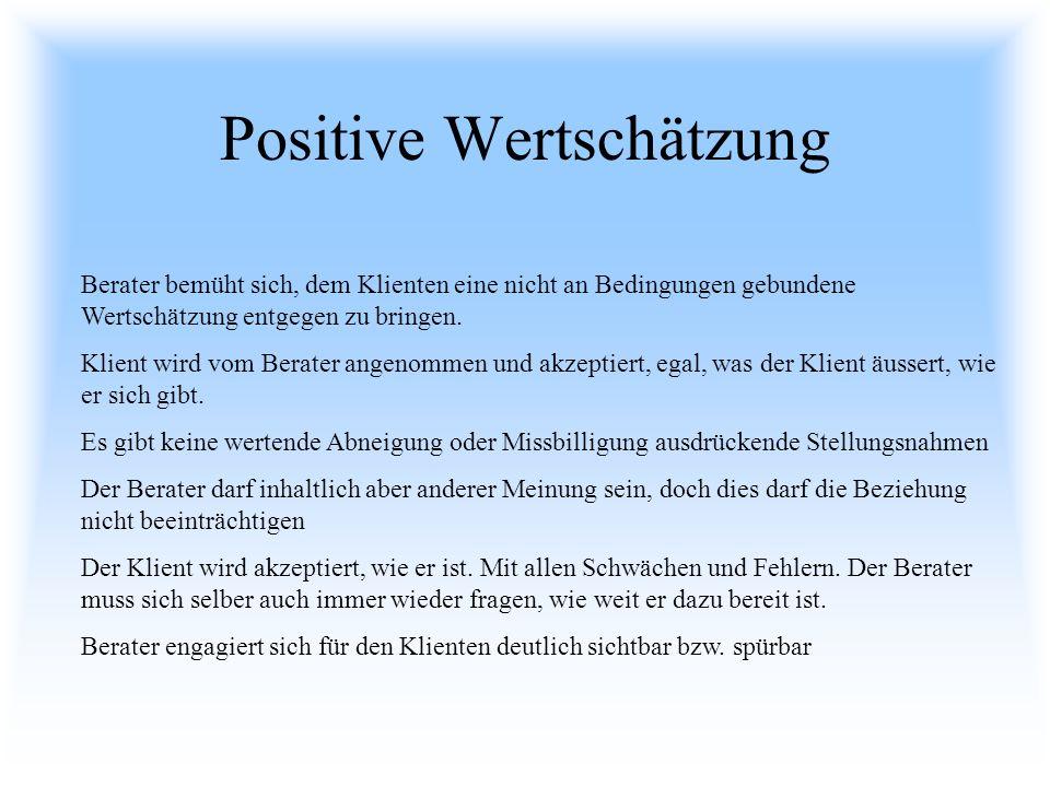 Positive Wertschätzung