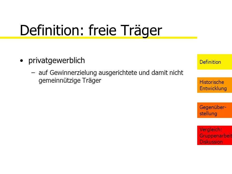 Definition: freie Träger