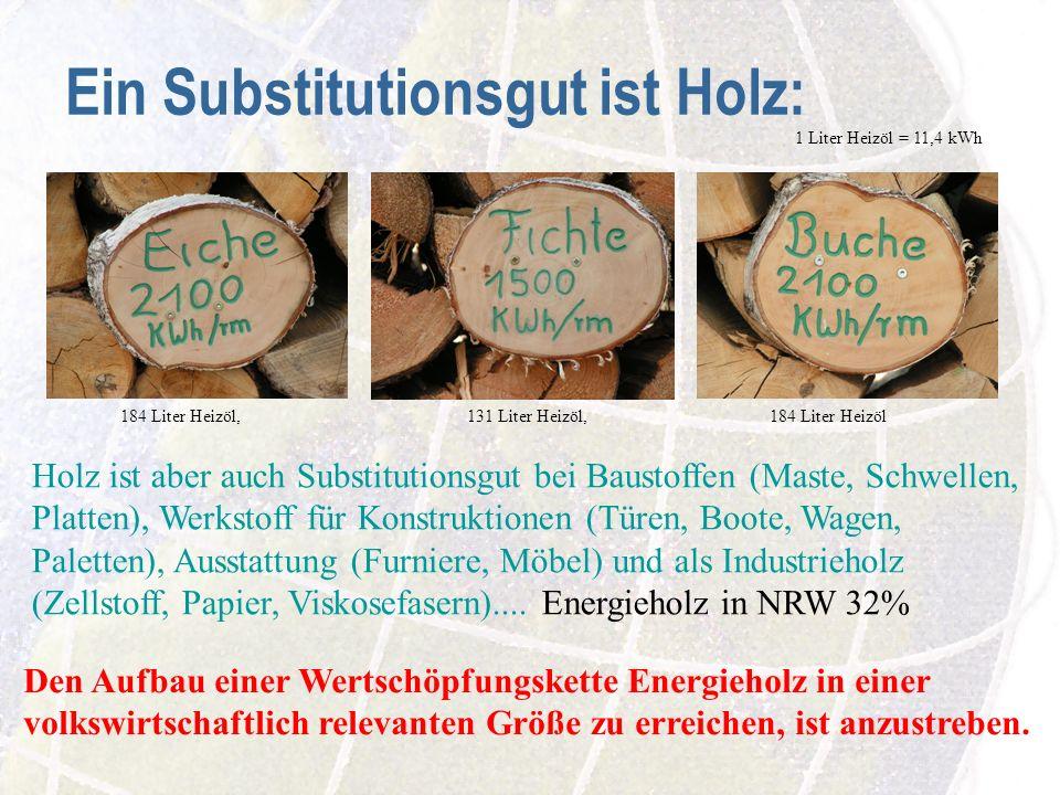 Ein Substitutionsgut ist Holz: