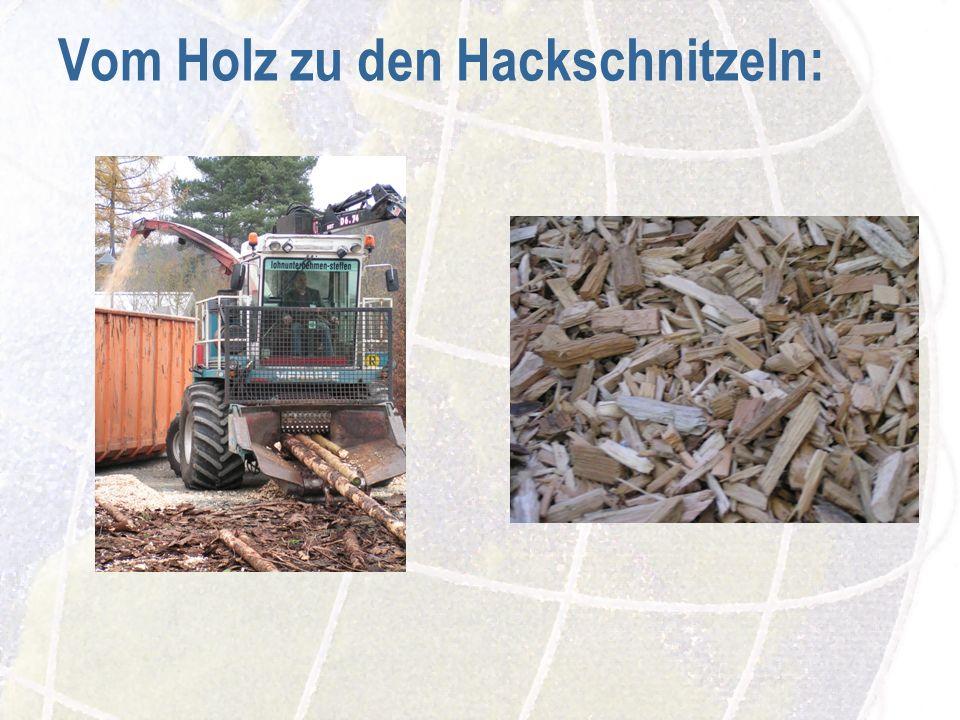 Vom Holz zu den Hackschnitzeln: