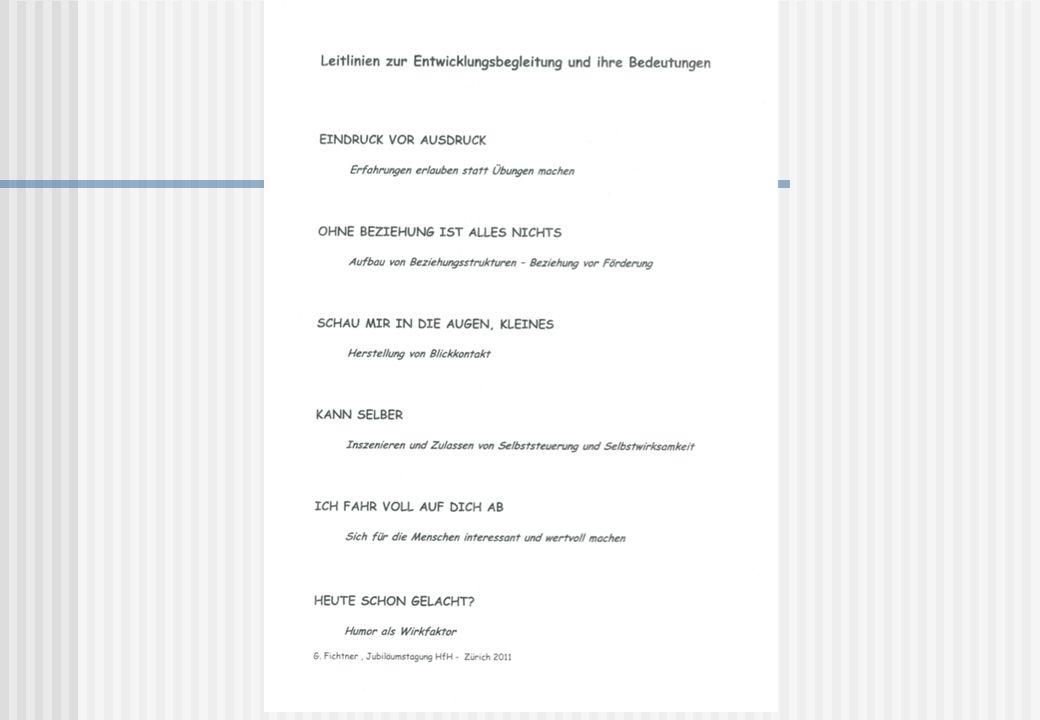 Leitlinien zur Entwicklungsbegleitung nach Gerhard Fichtner