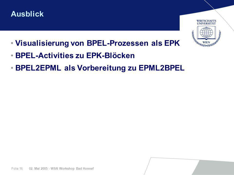 Visualisierung von BPEL-Prozessen als EPK