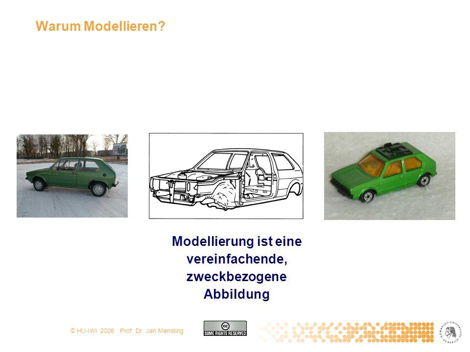 Warum Modellieren Modellierung ist eine vereinfachende, zweckbezogene Abbildung