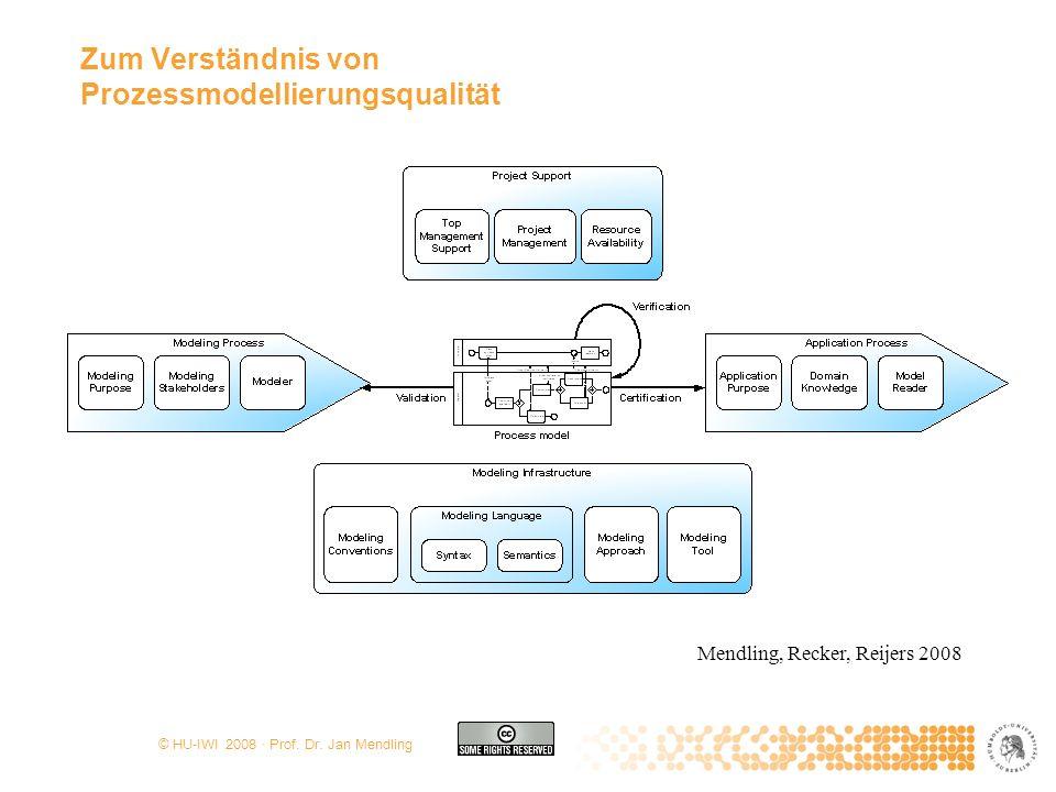 Zum Verständnis von Prozessmodellierungsqualität