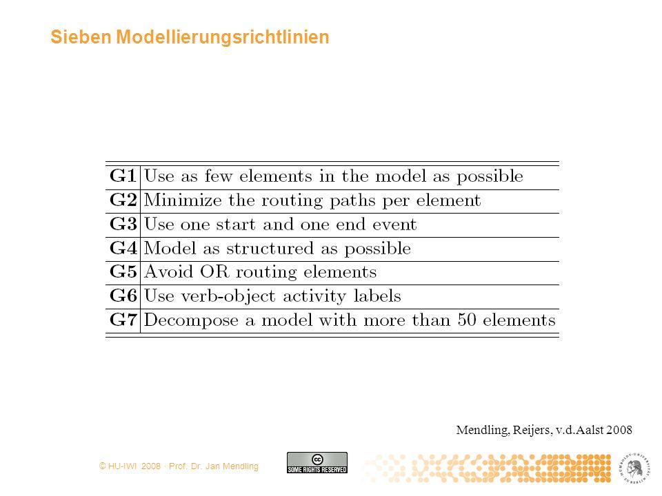 Sieben Modellierungsrichtlinien