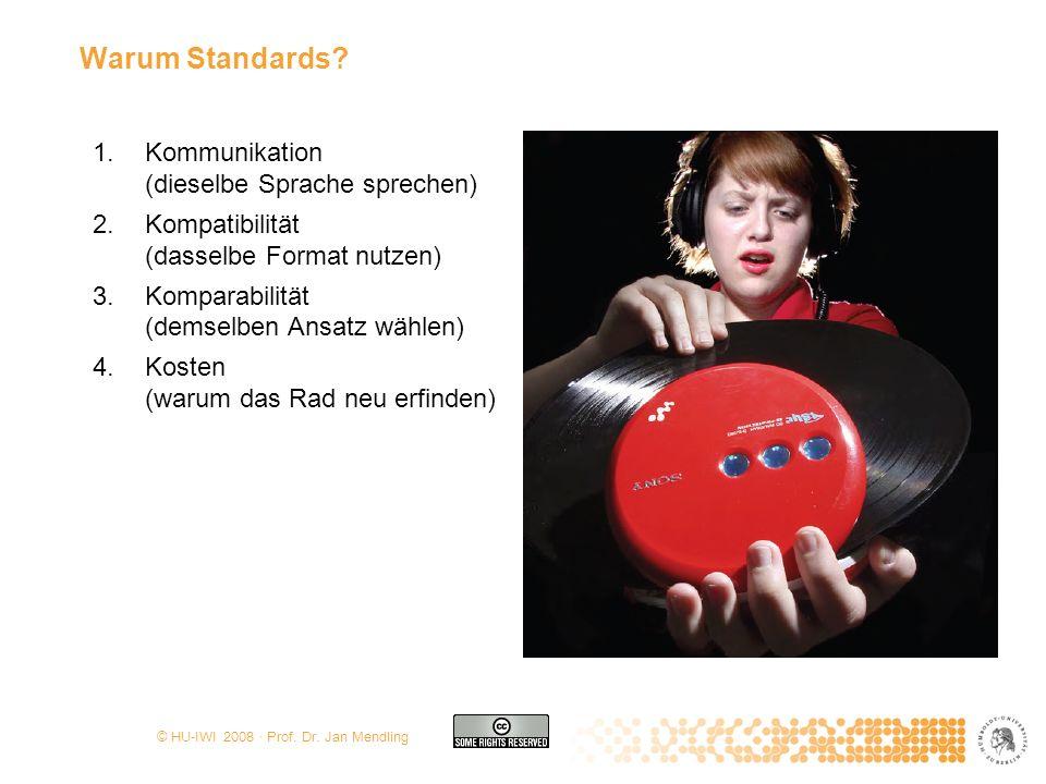 Warum Standards Kommunikation (dieselbe Sprache sprechen)