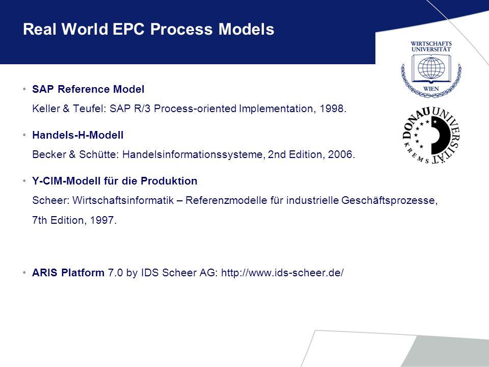 Real World EPC Process Models