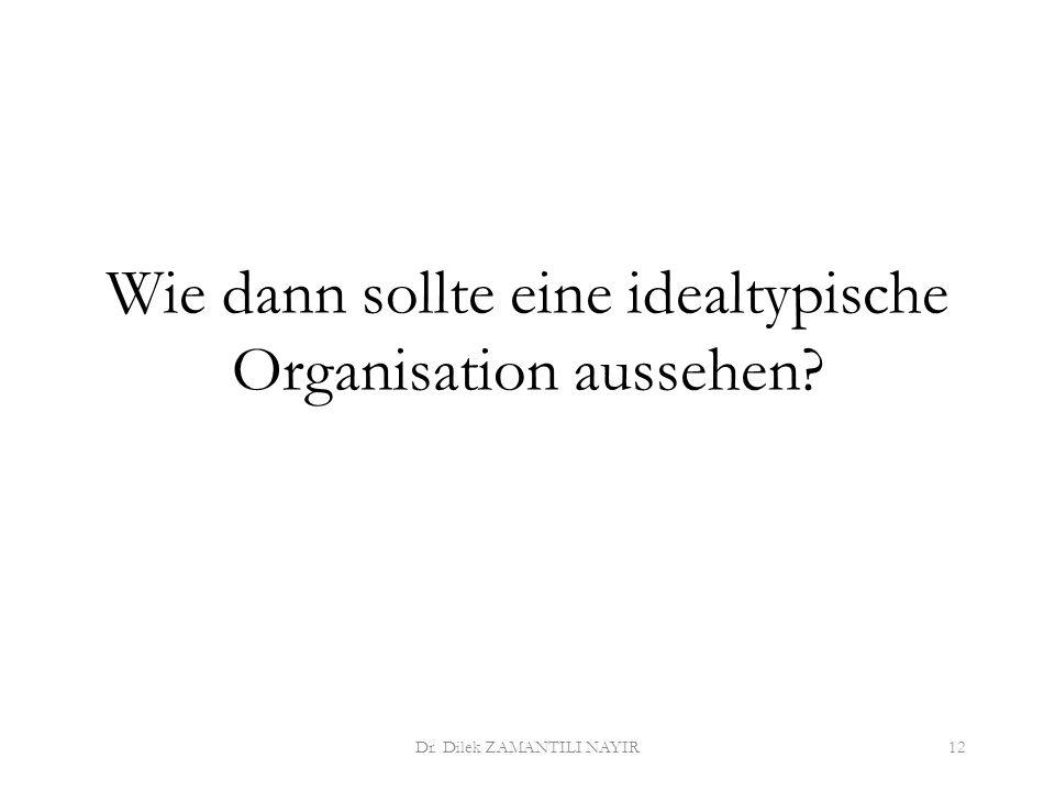 Wie dann sollte eine idealtypische Organisation aussehen