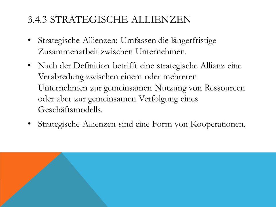 3.4.3 Strategische Allienzen