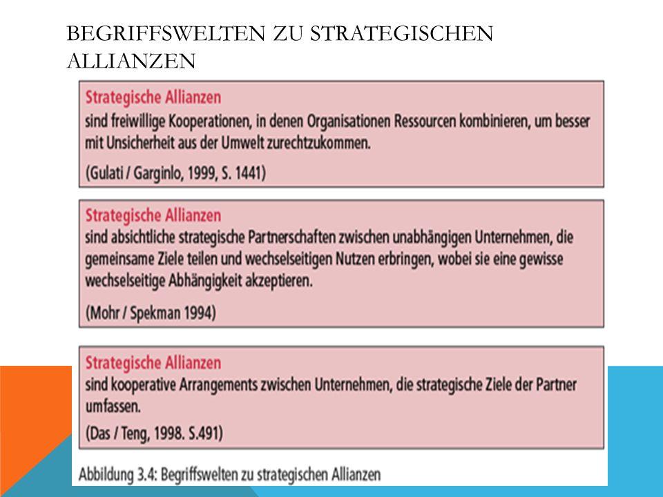 Begriffswelten zu strategischen Allianzen