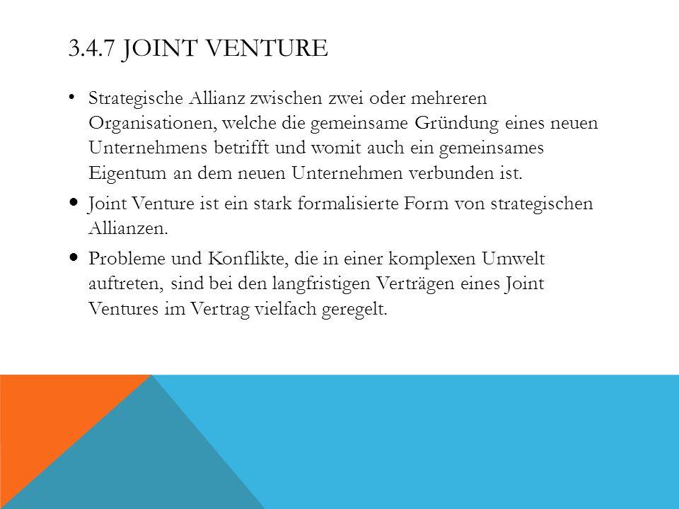 3.4.7 Joint Venture