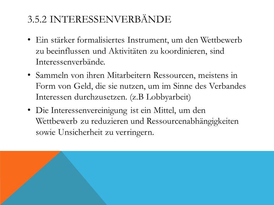 3.5.2 Interessenverbände