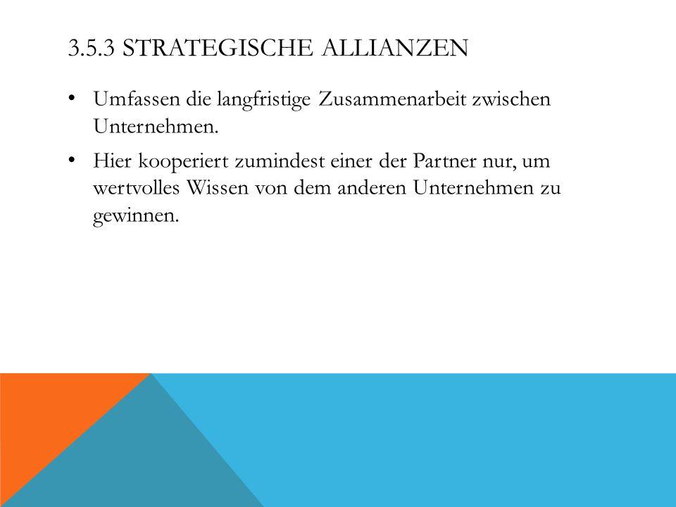 3.5.3 Strategische Allianzen
