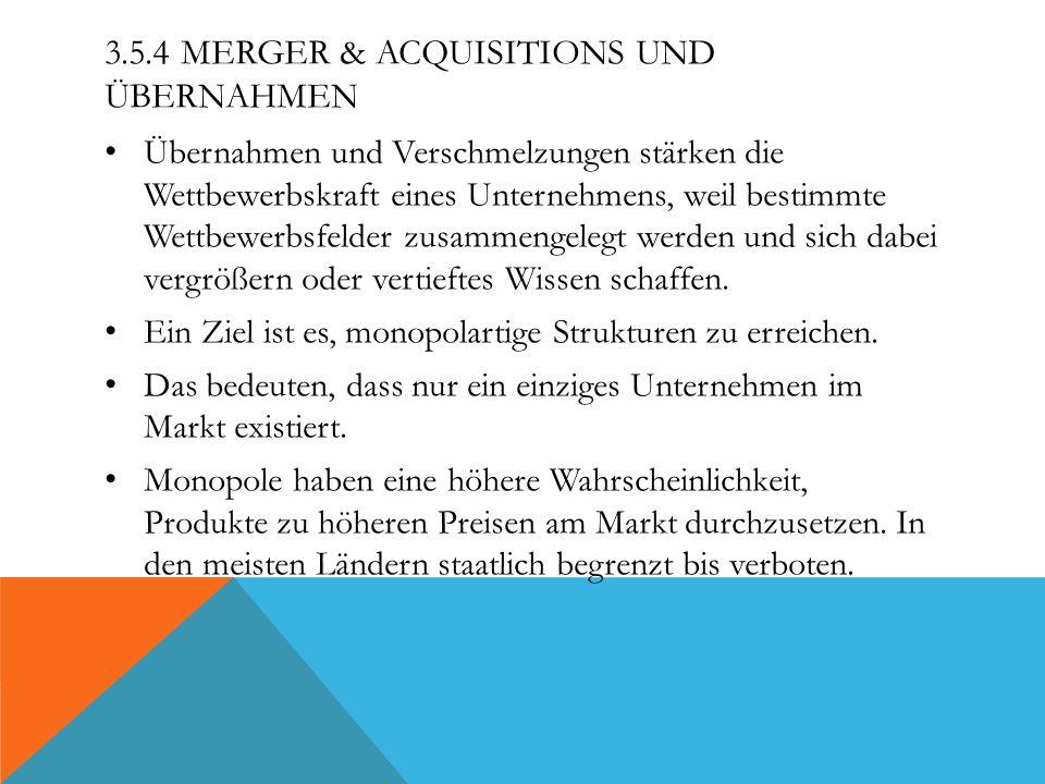 3.5.4 Merger & Acquisitions und Übernahmen