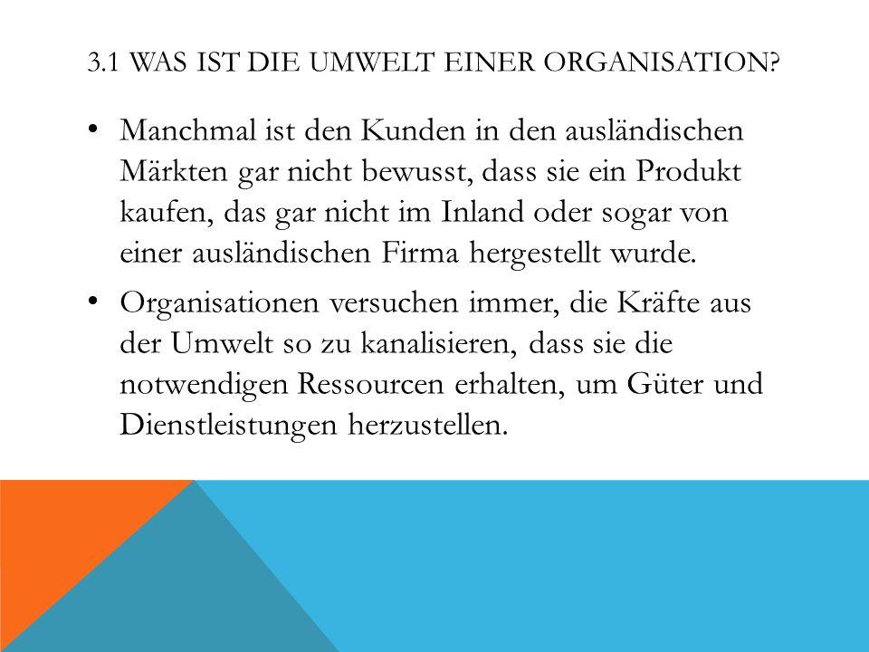 3.1 Was ist die Umwelt einer Organisation