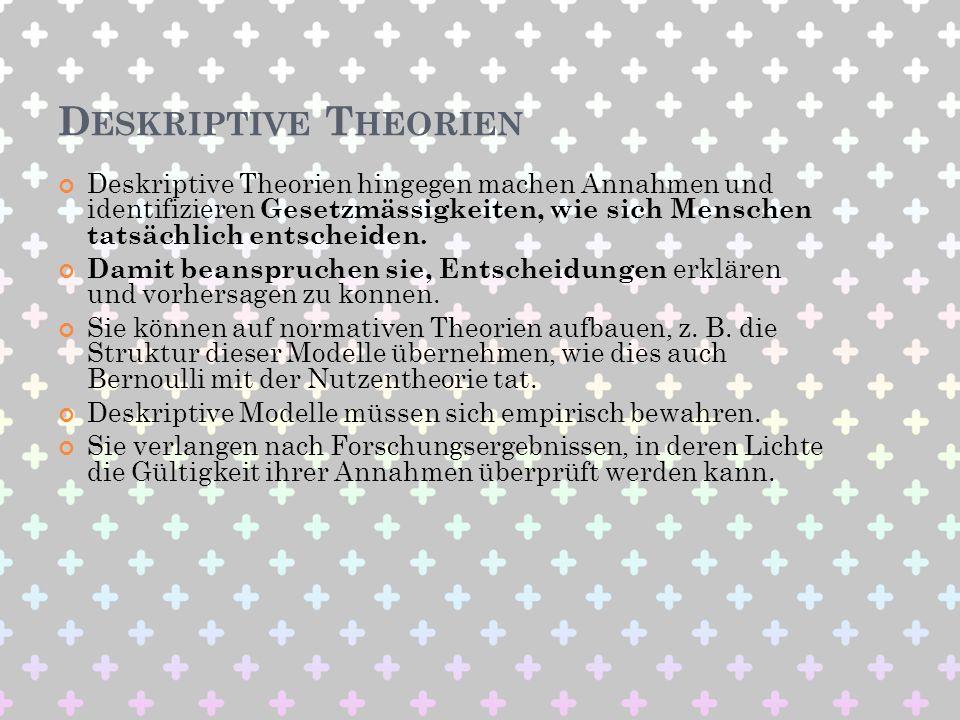 Deskriptive Theorien