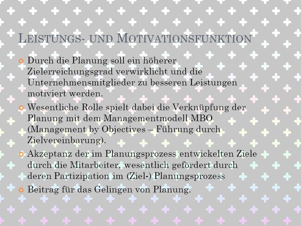 Leistungs- und Motivationsfunktion