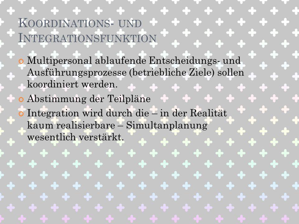 Koordinations- und Integrationsfunktion