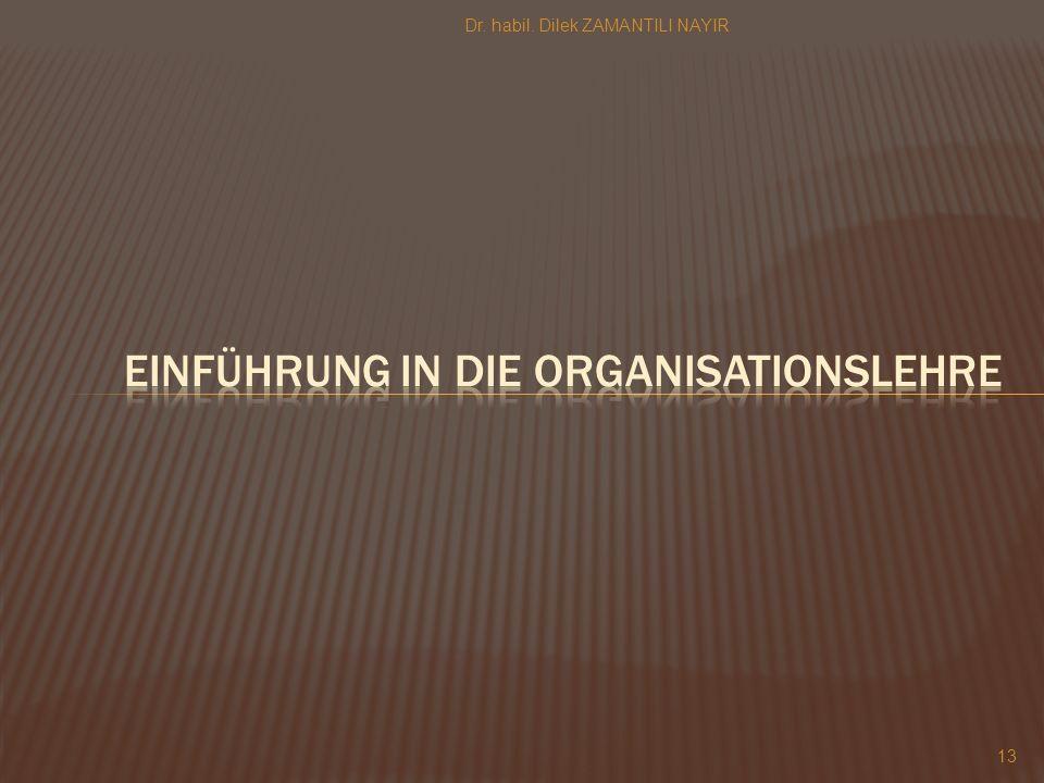 Einführung in die organisationslehre