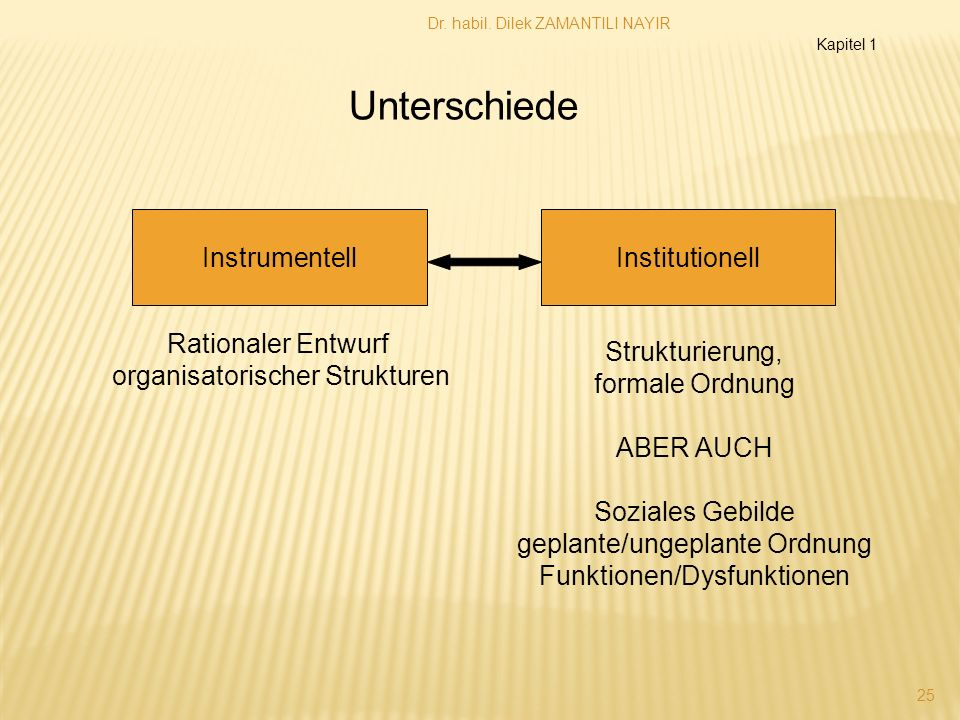 Unterschiede Instrumentell Institutionell Rationaler Entwurf