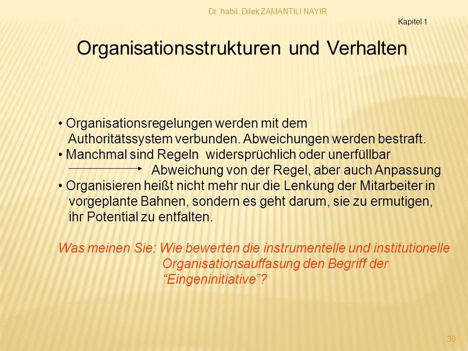 Organisationsstrukturen und Verhalten