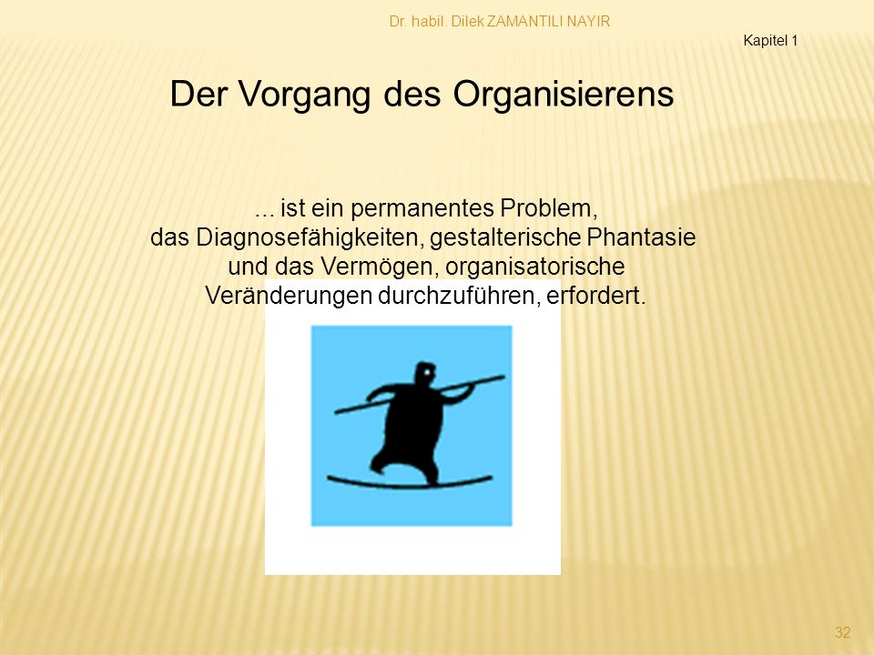 Der Vorgang des Organisierens